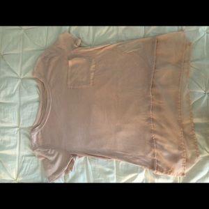 Hollister pocket tee, lace pocket and bottom